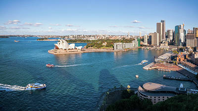 Photograph - View Of Sydney Harbour From Above by Daniela Constantinescu