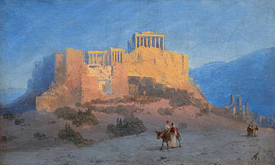 Painting - View Of The Acropolis by Ivan Konstantinovich Aivazovsky