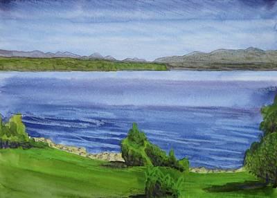 Bethany Lee Painting - View Of The Adirondacks Over Great Sacandaga Lake by Bethany Lee