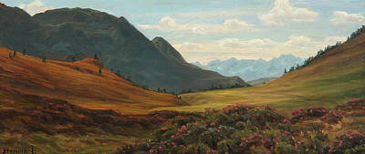 Painting - View Of The Alps by Henrik Gamst Jespersen