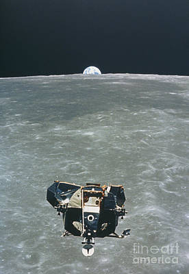 Photograph - View Of The Apollo 11 Lunar Module by NASA / Science Source