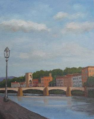 View Of The Arno 2 Art Print by Jennifer Boswell