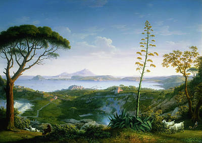 Sicily Painting - View Of The Bay Of Pozzuoli by Mountain Dreams