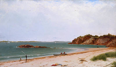 Frederick Painting - View Of The Beach At Beverly Massachusetts by John Frederick Kensett