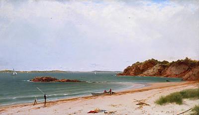 Sailboat Painting - View Of The Beach At Beverly Massachusetts by John Frederick Kensett