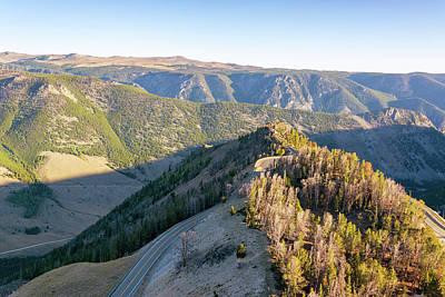 Beartooth Mountain Range Photograph - View Of The Beartooth Mountains by Jess Kraft