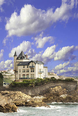 View Of The Beautiful Castle On The Bay Of Biscay Of The Atlantic Ocean Art Print