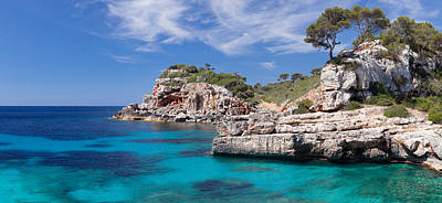 Cala Photograph - View Of The Cala Salmunia Bay by Panoramic Images
