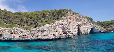 Cala Photograph - View Of The Calo Des Moro Near Cala by Panoramic Images