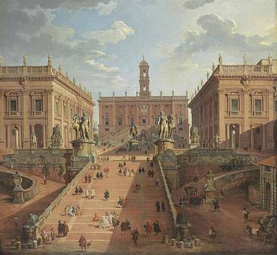 Giovanni Paolo Panini Painting - View Of The Campidoglio by Giovanni Paolo