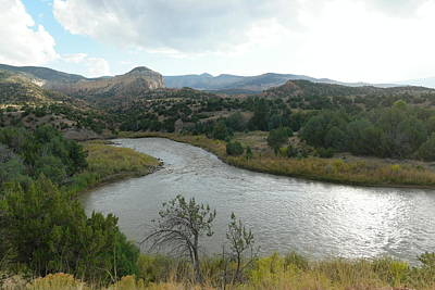View Of The Chama River Northern New Mexico Print by Jeff Swan