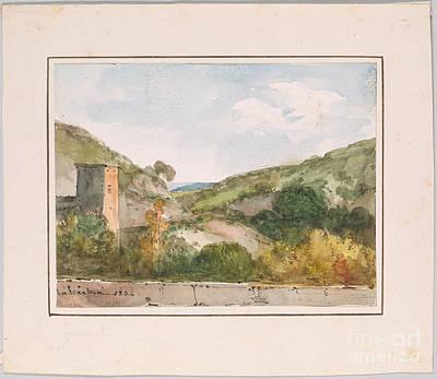 Marius Painting - View Of The Chateau De La Barben by Celestial Images