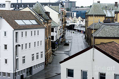 Street Photograph - View Of The City After The Rain, Stavanger, Norway by Dani Prints and Images