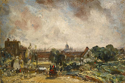 Steele Painting - View Of The City Of London From Sir Richard Steele's Cottage Hampstead  by John Constable