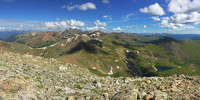 Torreys Peak Photograph - View Of The Colorado Rockies From Square Top Mountain by Rob Greebon