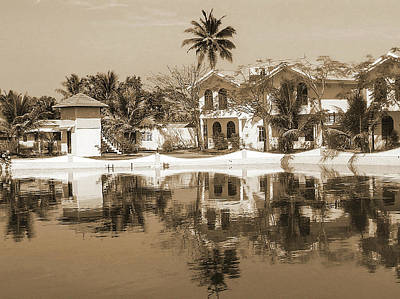 Photograph - View Of The Cottages And Lagoon Water by Ashish Agarwal