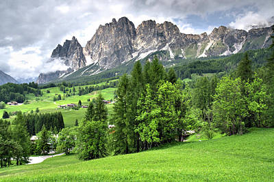 Photograph - View Of The Dolomites by Alan Toepfer