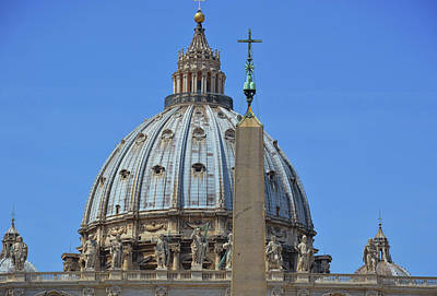 Photograph - View Of The Vatican Dome by JAMART Photography