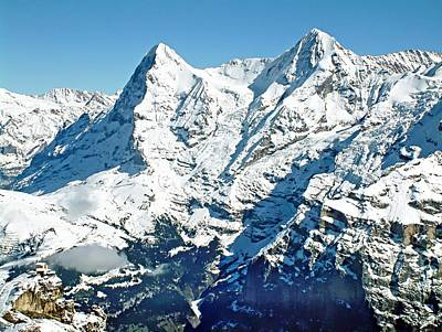 View Of The Eiger From The Piz Gloria Art Print by Joseph Hendrix