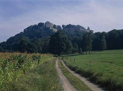 Of The Countryside Photograph - View Of The Fortress  by Koenigstein