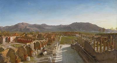 Pompeii Painting - View Of The Forum Of Pompeii by William Parrott
