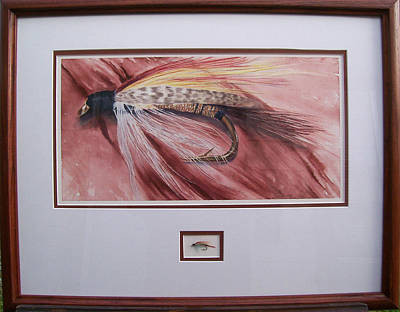 Painting - View Of The Frame Of Fish Fly On Sepia by Cory Calantropio