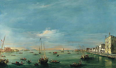 Painting - View Of The Giudecca Canal And The Zattere by Treasury Classics Art