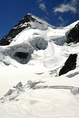 Jungfraujoch Photograph - View Of The Glacier by Anne Keiser