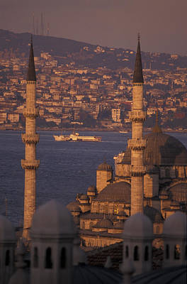 View Of The Golden Horn And Asia Art Print by Richard Nowitz