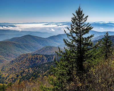 Photograph - View Of The Great Smoky Mountains by Tim Stanley