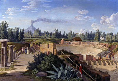Painting - View Of The Great Theater Of Pompeii by Treasury Classics Art