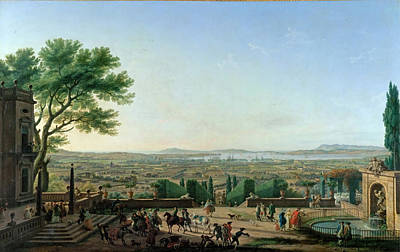 Mountain Painting - View Of The Harbor And Toulon by Celestial Images