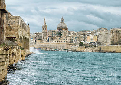 Valletta Photograph - View Of The Historic City Of Valletta, Malta by Dani Prints and Images