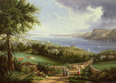 Path Painting - View Of The Hudson River From Near Sing Sing by Robert Havell