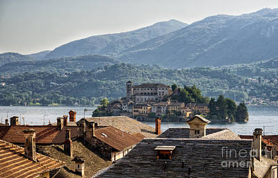 View Of The Island Of San Giulio In Lake Orta Print by Frank Bach