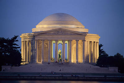 View Of The Jefferson Memorial Art Print by Richard Nowitz