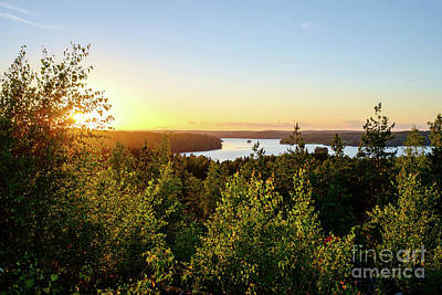 Photograph - View Of The Lake Hiidenvesi At Sunset by Ismo Raisanen