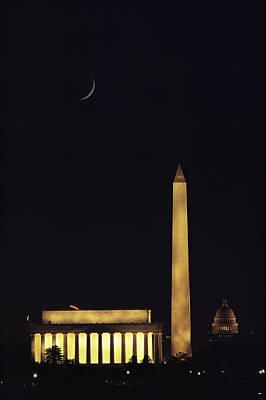 View Of The Lincoln And Washington Art Print