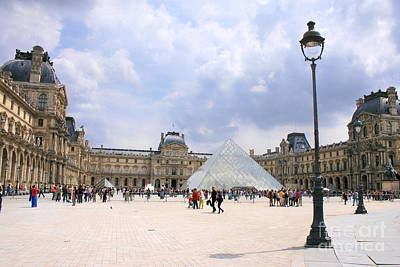 Photograph - View Of The Louvre by Angela Rath