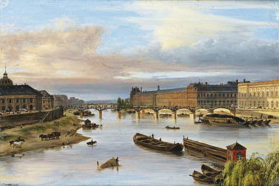 View Of The Louvre Art Print by Giuseppe Canella