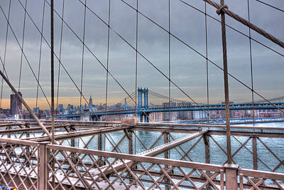 View Of The Manhattan Bridge From Brooklyn Bridge Original by Randy Aveille