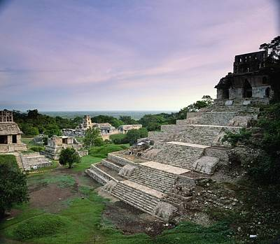 View Of The Mayan Ruins At Palenque Print by Kenneth Garrett