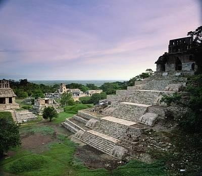 View Of The Mayan Ruins At Palenque Art Print
