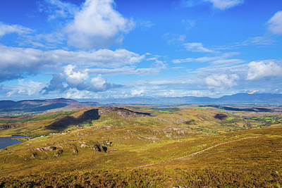 Photograph - View Of The Mountains And Valleys In Ballycullane In Kerry Irela by Semmick Photo