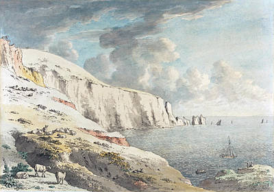 Painting - View Of The Needles, And White Cliffs Taken From Allum Bay by Anthony Devis