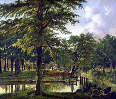 Digital Art - View Of The Nieuwe Gracht Near The Bolwerk, Haarlem by Ruth Moratz