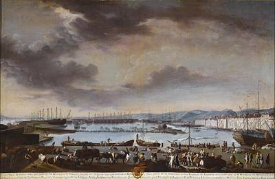 Viejo Painting - View Of The Old Port Of Toulon by Celestial Images