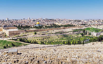 Photograph - View Of The Old Town Of Jerusalem From The Mount Of Olives by Alexandre Rotenberg