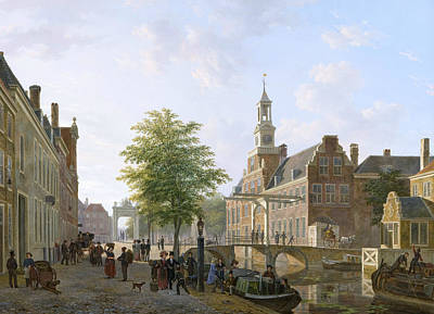 Old Dutch Painting - View Of The Old Women And Children Home To The Sick by Bartholomeus van Hove