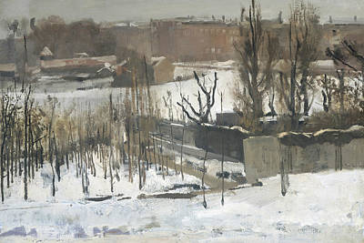 Winter Landscape Painting - View Of The Oosterpark In Amsterdam In The Snow by George Hendrik Breitner
